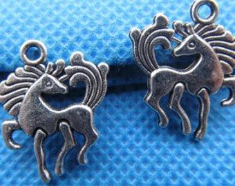 4 Full Dress Unicorn Charms