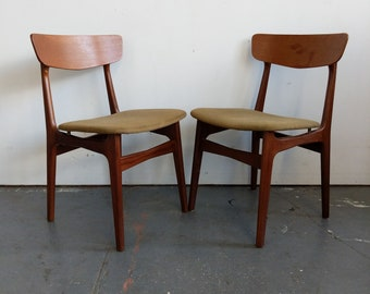 Pair Of Vintage Danish Modern Dining Chairs