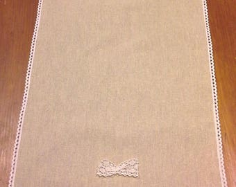 linen and 150 cm lace table runner