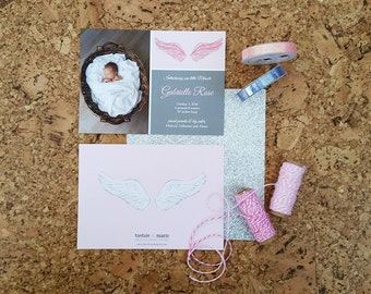Little Angel/Little Miracle - Photo Birth Announcement - DIGITAL FILE