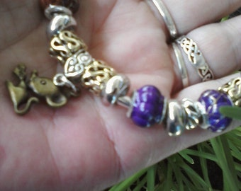 Wee Mouse of Love :) Euro style bracelet