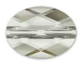 Silver shade Swarovski oval beads size 14x10mm quantity of 3