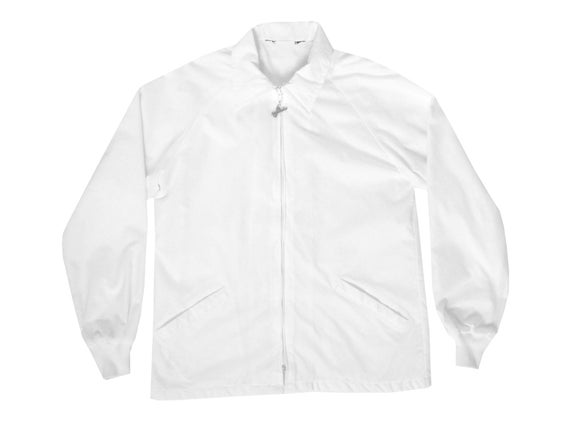 Duckster White Nylon Coaches Jacket