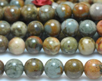 62 pcs of Natural USA Rocky Butte Jasper smooth round beads in 6mm (07229#)
