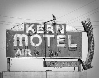Kern Motel 2 - 11 x 14 Fine Art Photographic Print - Black and White