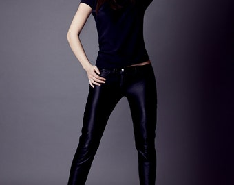 BESTSELLER Vivienne genuine leather pants in black