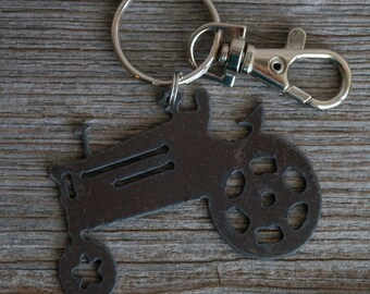Tractor Keychain,  Personalized Gift, Birthday Gift for Him Keyring, Custom Key Chain, Christmas Gift, Gift for Dad, Father's Day Gift