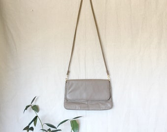 Vintage Taupe Leather Purse 'Marlo'