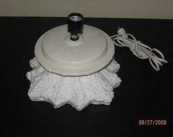 "Vintage White Atlantic Mold Ceramic Christmas Tree Base 5 1/2"""