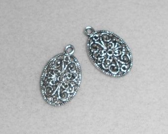 Silver Floral Charm