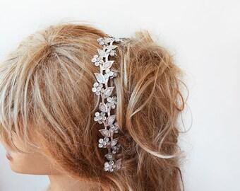 Silver Sparkly Headband, Silver Hair Accessories ,Silver Headband for women, Wedding  Headband,  Wedding Hair Accessories,  Bridal  Headband