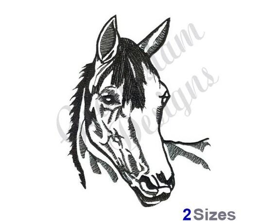 Pferdekopf Maschine Stickerei Design