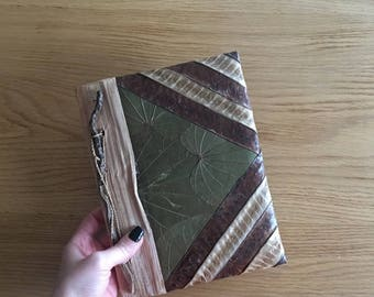 Leaf Journal, Real Leaf Journal, Authentic Journal, Ethnic Journal, Unique Gift