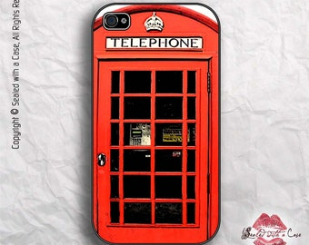 London Telephone Booth - iPhone 4/4S 5/5S/5C/6/6+ and now iPhone 7 cases!! And Samsung Galaxy S3/S4/S5/S6/S7