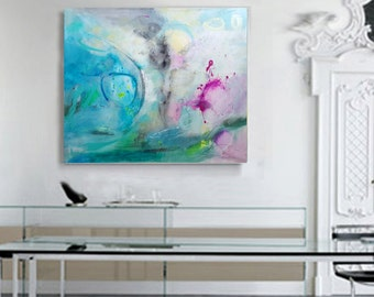 Large Painting on Canvas Modern Art Abstract Painting Original Abstract Acrylic Painting Wall Art on Canvas Acrylic Painting on Canvas white