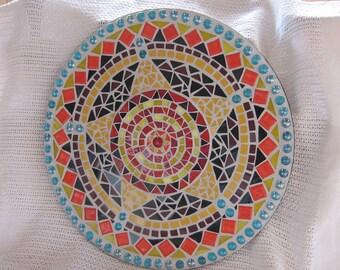 MOSAIC MANDALA ,Wall ART,Spiritual,Meditation,Harmony,Balance Clarity,Unity, Cosmos,Universe, Inner Self,Life