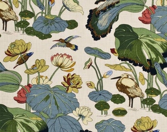 5,5 yards Lee Jofa Nympheus chinoiserie fabric (also available by the yard)