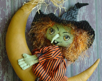 CF265 Scary Mary's Moonride Witch Doll Sewing PDF ePattern