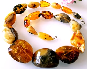 Large Genuine BALTIC AMBER Necklace 90 g
