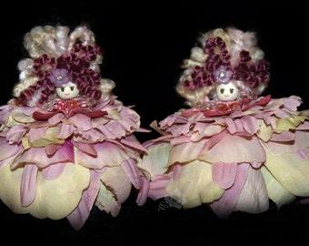 Leza & Beth Flower Petal Faerie, Fairy, OOAK