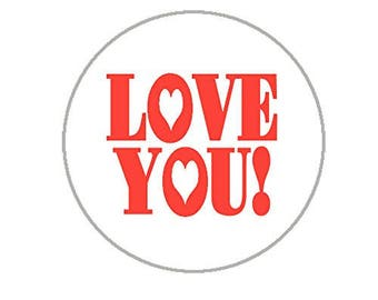 "Love You Envelope Seals - 1.2"" Stickers - 144 Love Stickers - 25130"