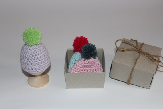Easter gift knit hats for eggs set easter hats knit egg negle Gallery