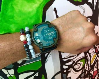 Hematite Buddha Bracelet