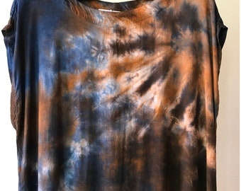 One of a Kind, Ready to Ship, Hand Dyed Tank Dress in Harvest Moon, Size Medium,  Anna Joyce, Portland, OR