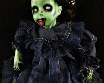 "Órnait 10"" OOAK Porcelain Horror Doll"