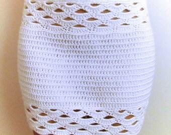 Shell Crochet Mini Skirt PDF Pattern