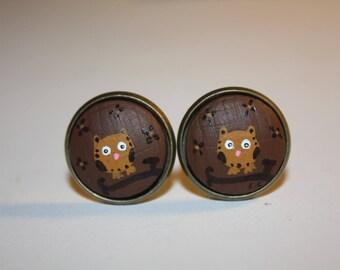 """Earrings """"Laurette"""" OWL clip"""