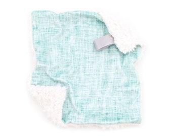 Lovey Blue Pistachio Texture. Lovey. Aqua Lovey. Mini Baby Blanket. Security Blanket. Lovie. Minky Lovey.