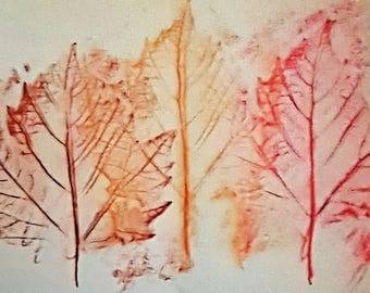 Greeting Card - Autumn leaves