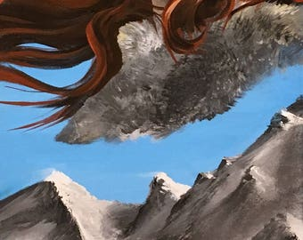 Game of Thrones fan art painting.  Ygritte.