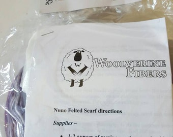 Nuno Felted Scarf Kit - Merino / Silk Scarf Kit