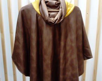 poncho, jacket, cape, camel poncho, cape taupe
