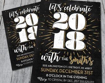Celebrate NYE Party Invite (Digital)