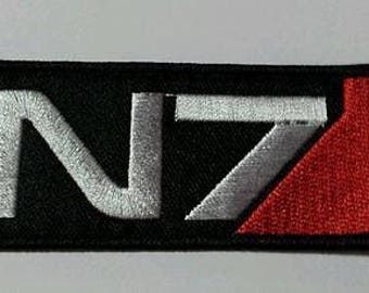 N7 Mass Effect patch - iron-on 3.5 inch patch