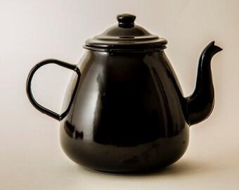 Brown Enamel Teapot