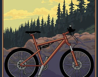 Cuyahoga Valley National Park, Ohio - Mountain Bike (Art Prints available in multiple sizes)