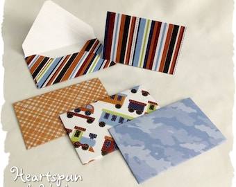 Set of 4 Note Cards with Matching Envelopes. Thank You note, Birthday Gift Card Holder, Money Envelope, Teacher thank you, lunchbox note