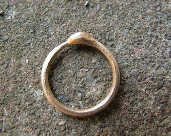 Ouroboros Snake Ring in 14k Gold