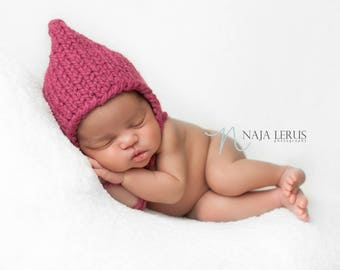 Newborn Hat Girl, Newborn Pixie Hat, Newborn Pixie Bonnet, Newborn Photo Prop Girl, Knit Newborn Hat, Newborn Girl Hat, Newborn Props Girl