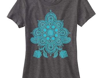 Women's REVEALS Mandala T-Shirt Psychedelic Sacred Geometry Style Tee