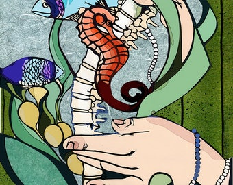 String of Pearls giclee print