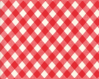 Moda Ruby Red Vintage Picnic Gingham by Bonnie and Camille Basics for Moda Fabrics