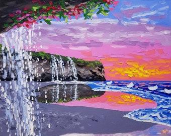 Textured wall art / beach decor / palette knife art / coastal wall art / seascape painting / original painting / oil painting
