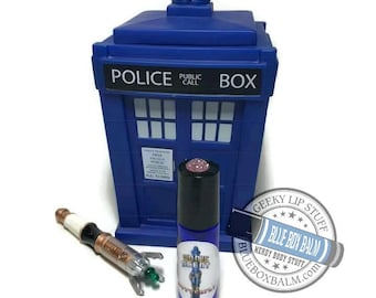 "Sonic Scent- BUTTERFLY - ""Martha Jones"" Doctor Who Inspired Body Scent - Vanilla Chrysanthemum Fragrance in a Blue Glass Roller Bottle"