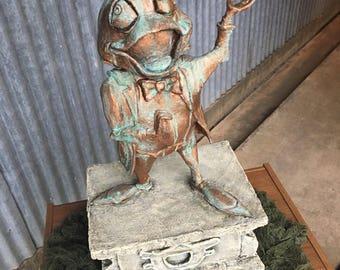 "Custom Made Life Size Sculpture ""Haunted Mansion""  Pet Cemetary Disney Mr. Toad Statue"