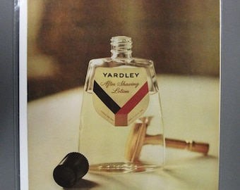 Col # 107  Yardley After Shaving Lotion  Magazine Ad - June 1961